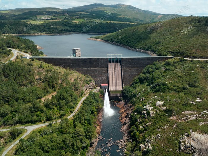 Staudamm in Ezaro Spanien