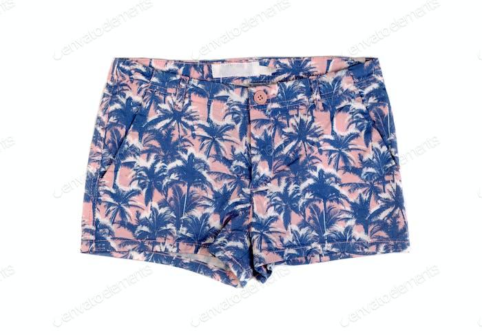 Shorts patterned palm.