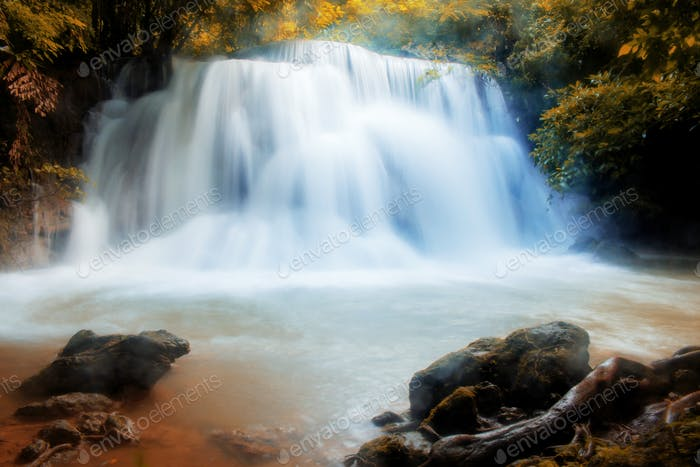 Huay mae kamin waterfall of Thailand