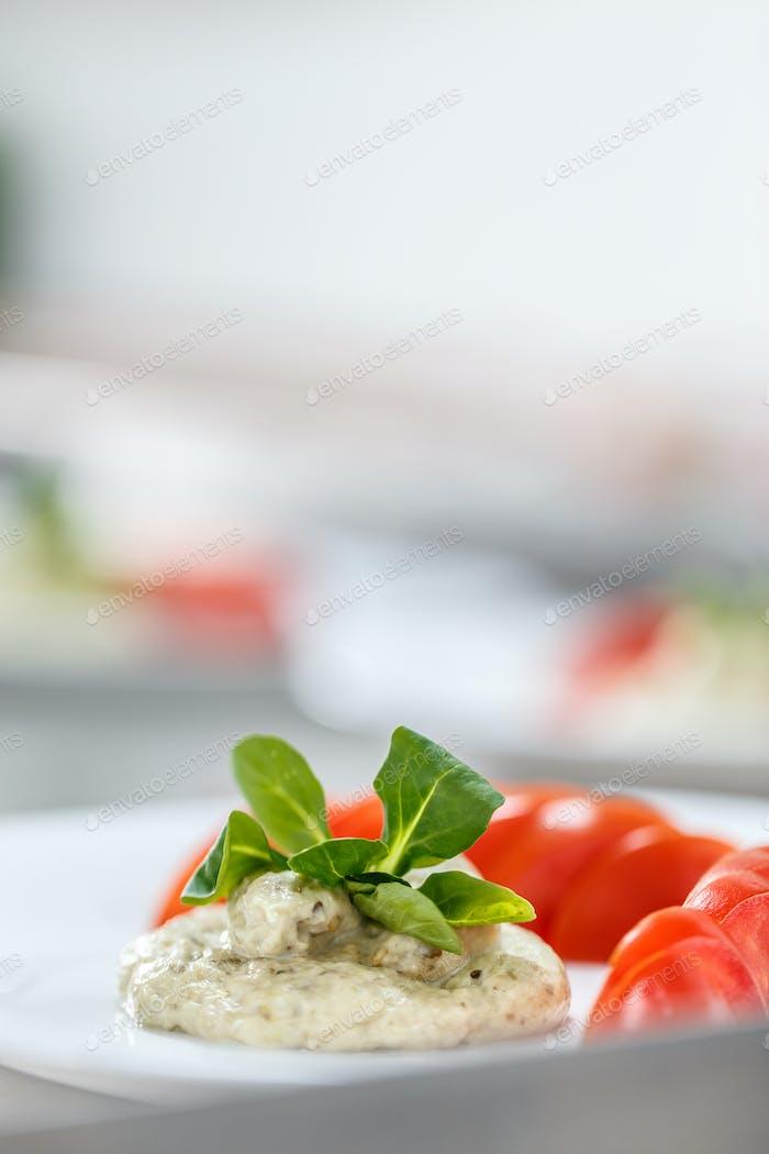Creamy eggplant salad