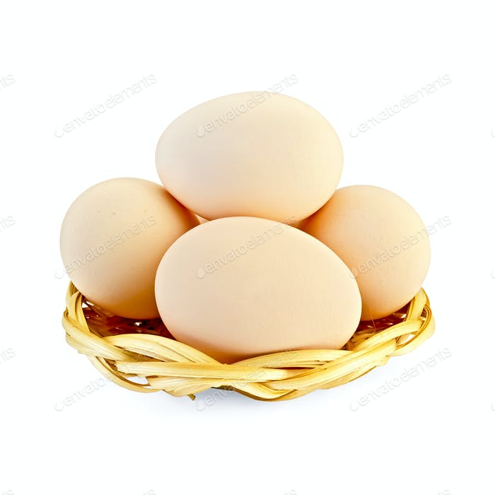 Thumbnail for Eggs in a wicker plate