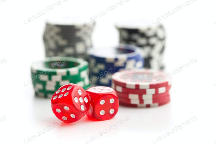 Dice and poker chips.