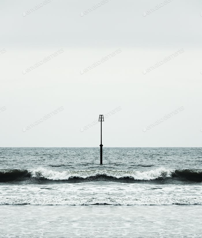Beacon and Ocean Waves