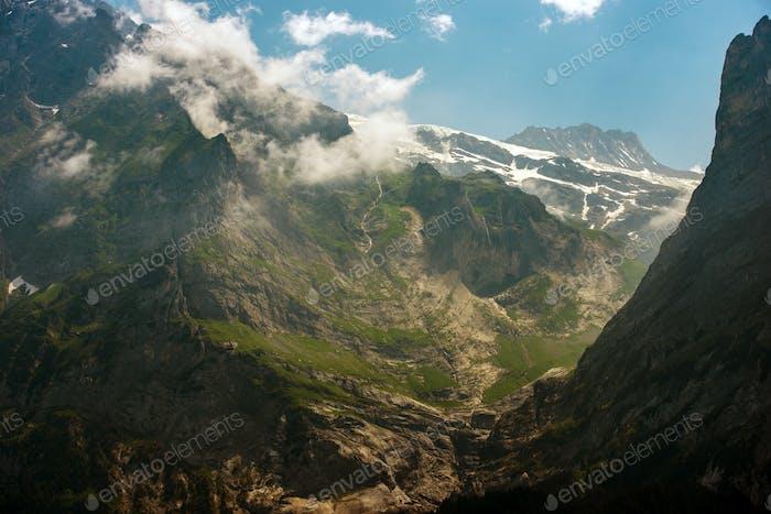 Schweiz Alpenlandschaft bei Jungfrau