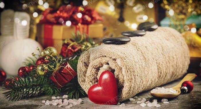 Weihnachts-Wellnesskonzept