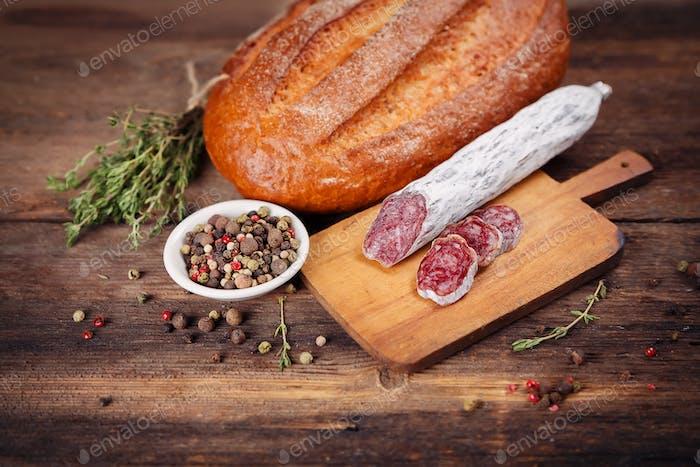 Fleischwurst Salami