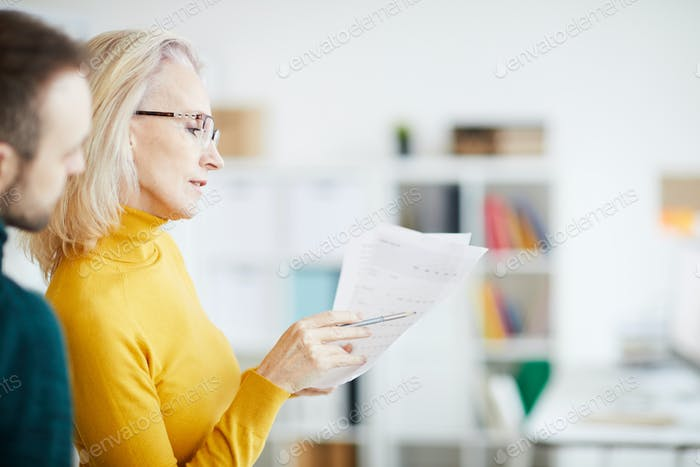 Businesswoman Planning Strategy