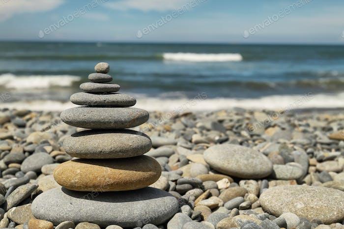 Heap of stones in Ruby beach
