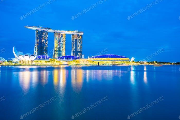 Singapore, 20 Jan 2019 : Beautiful architecture building skyscra