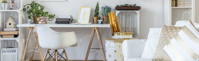Boho style home workspace