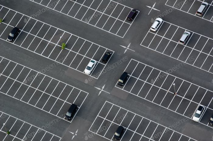 Car park seen from above