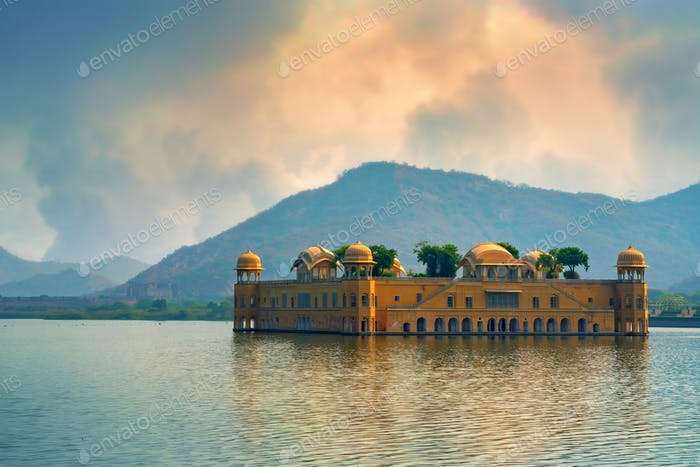 Jal Mahal and Man Sagar Lake in Rajasthan, India