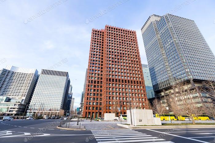 Tokyo business district