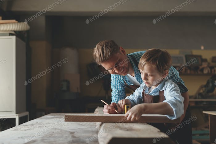 Master and apprentice at work