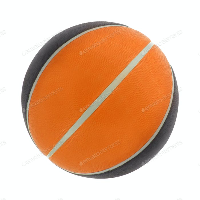 Orange basket ball, isolated