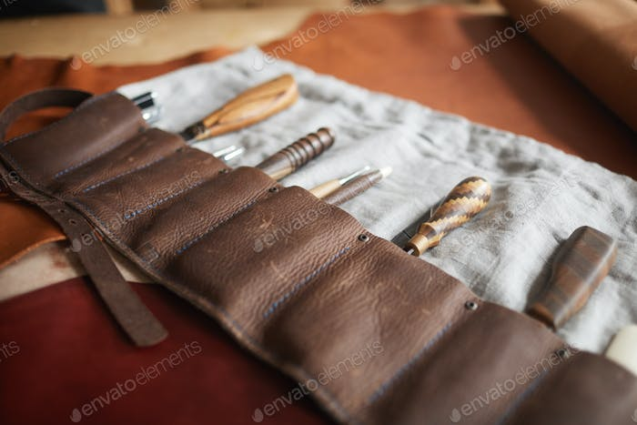 Craftwork Tools In Case On Table