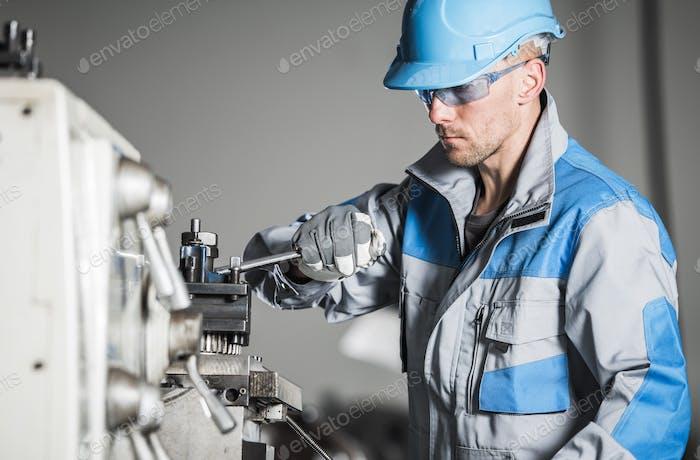 Caucasian Industrial Worker