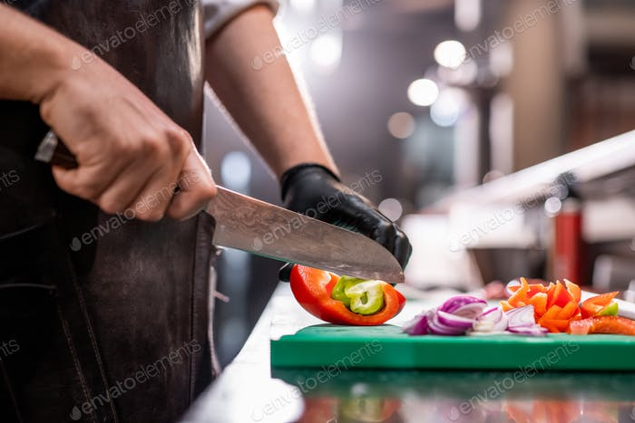 Making refreshing summer salad