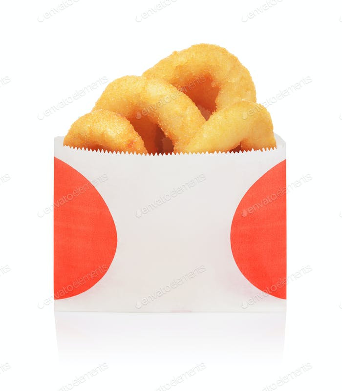 Onion rings isolated