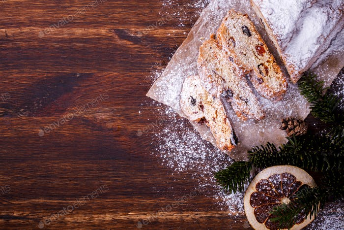 Christmas pastries Dresdnen Stollen