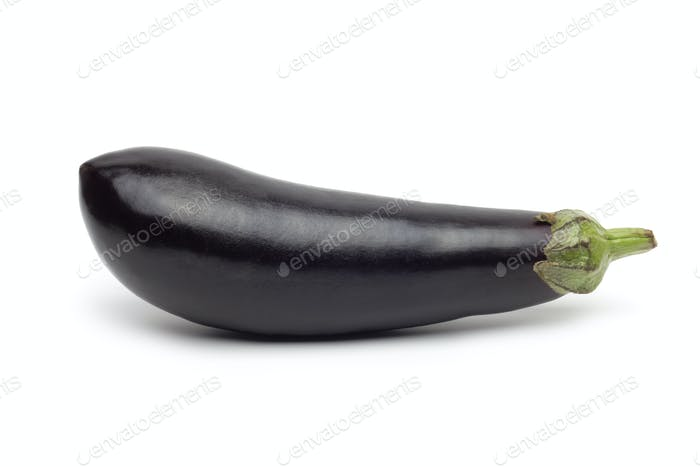 Fresh eggplant isolated on white