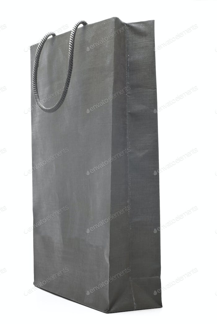 grey shopping bag isolated on white background