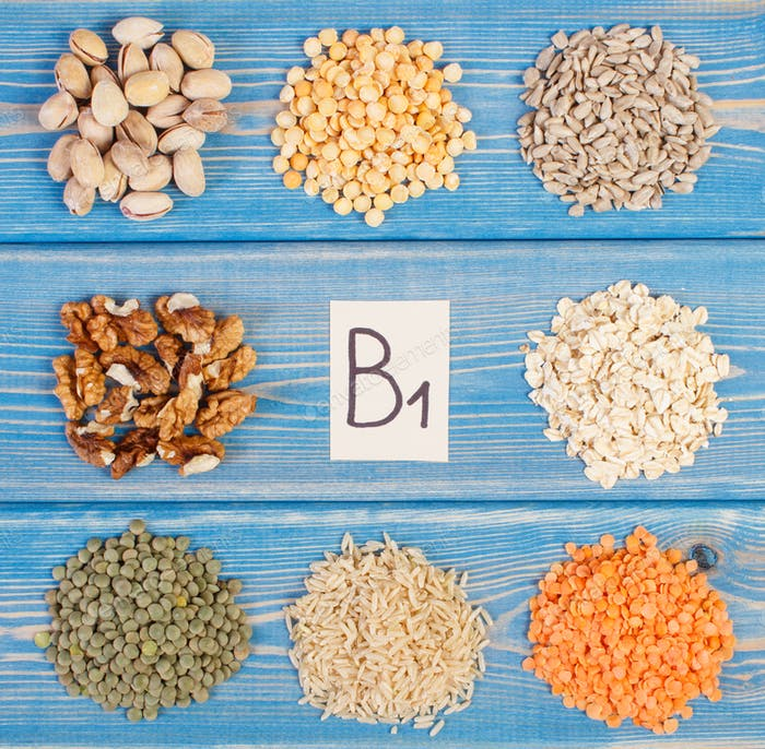 Ingredients containing vitamin B1 and dietary fiber