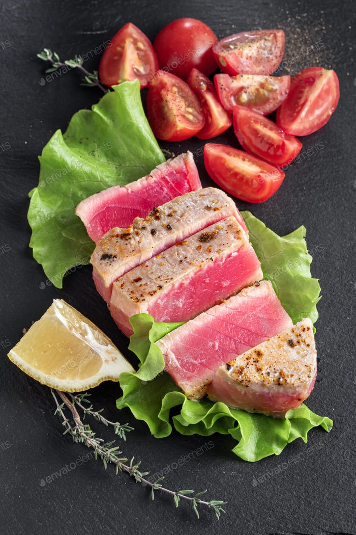 Lemon and thyme grilled tuna