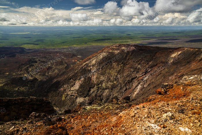 Breathtaking view of the landscape of the Kamchatka Peninsula