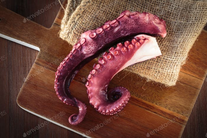 Delicious coocked Octopus