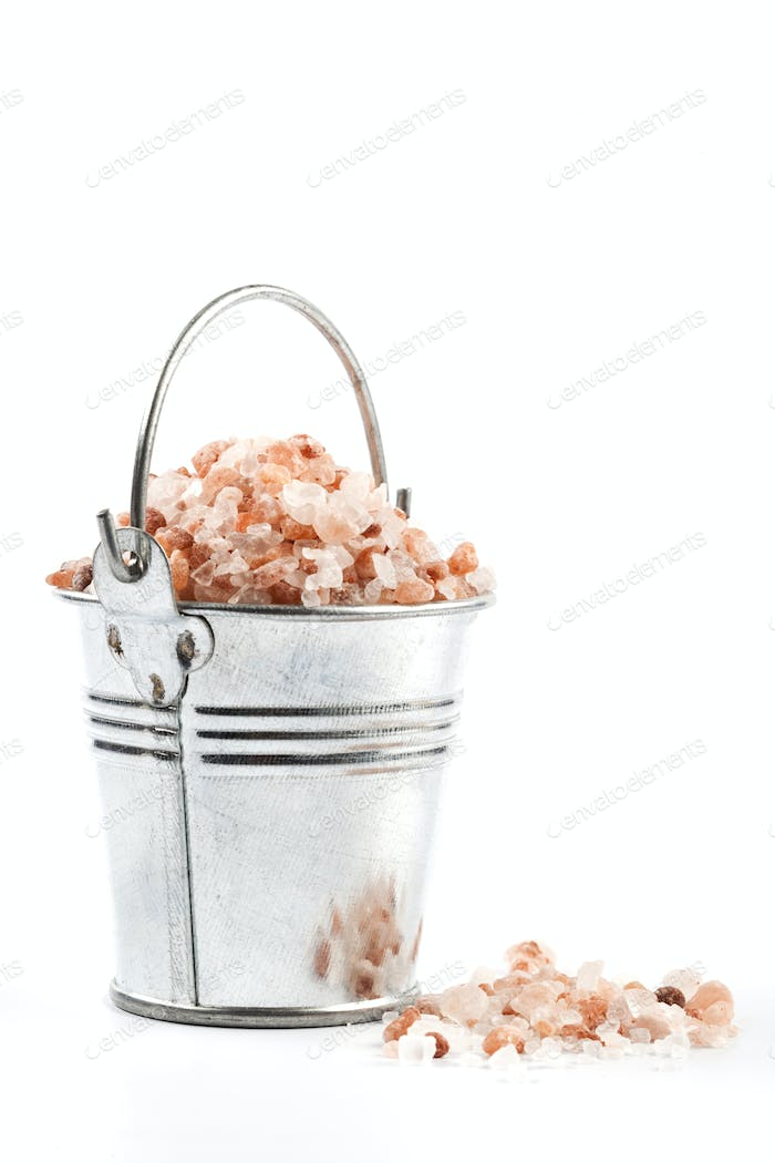 Isolated Silver Bucket