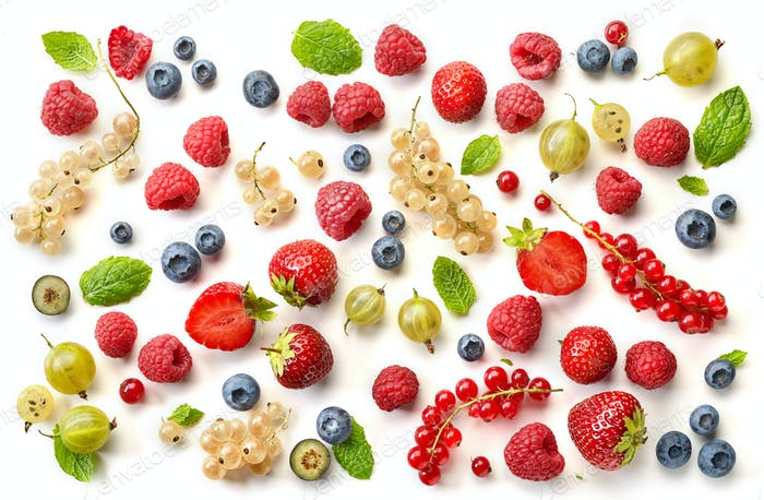 Various fresh berries