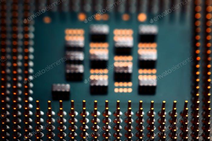 Bokeh elektronisch Schaltung Close Up Computer