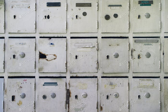 Old mailboxes for post and letters