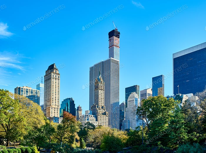New York view from Central Park