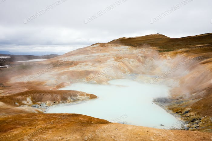 Thermal Pool In Iceland