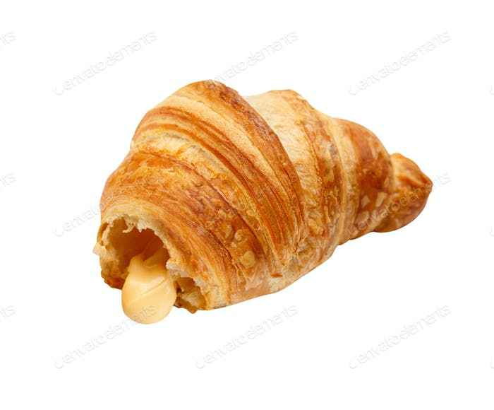 Fresh Croissant Isolated