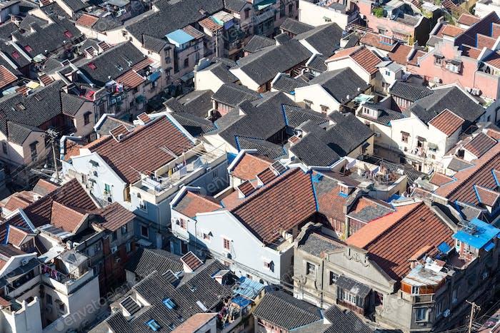 Shanghai Altstadt Nahaufnahme, alte Wohngegend