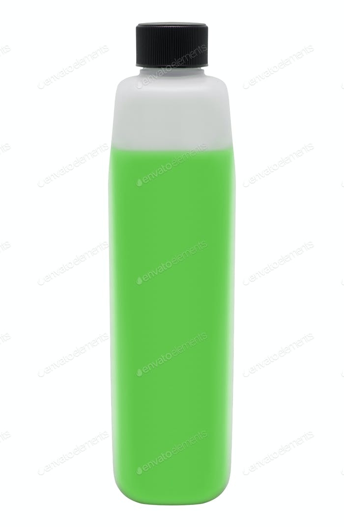 Green Bottle of Cleaning Product