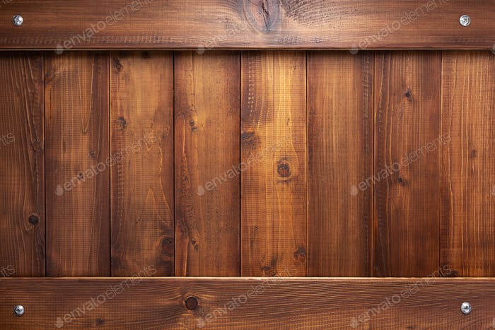 wooden plank board and screws as background