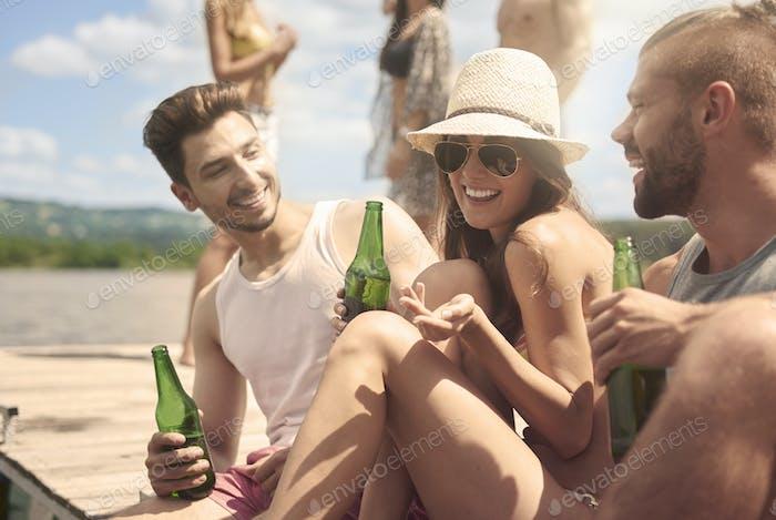 Partyzeit auf dem See