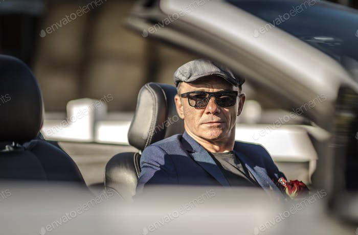 Retired Men in a Cabriolet