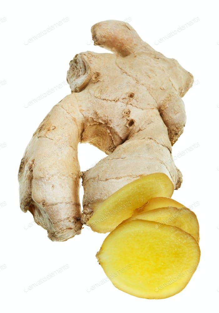 fresh sliced ginger root