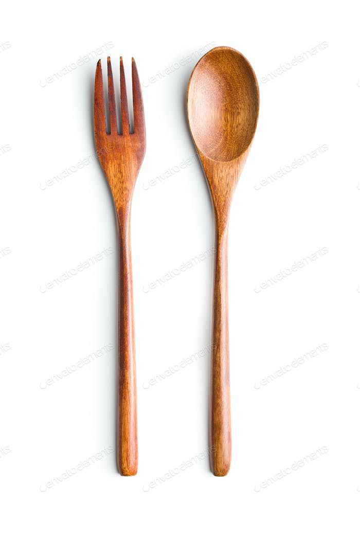 Wooden spoon and fork.