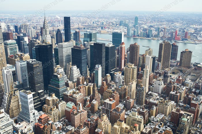 Cityscape view of Manhattan