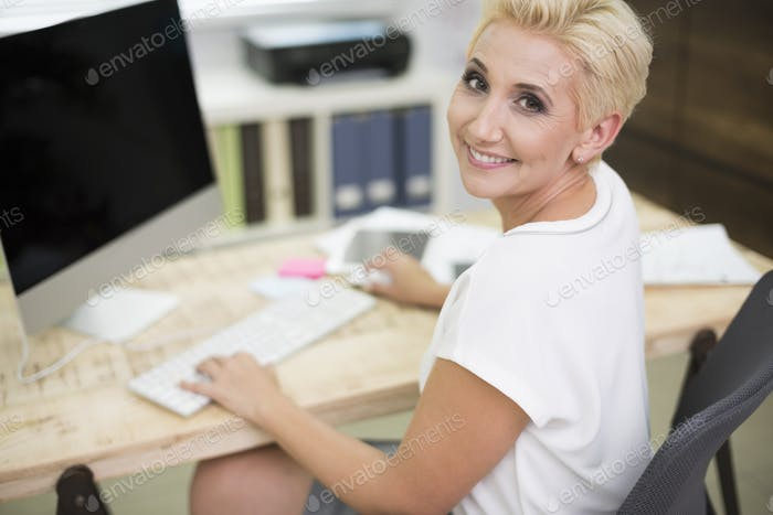 Female executive at her office