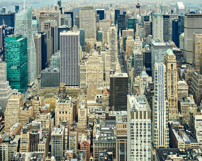 Thumbnail for Cityscape view of Manhattan from Empire State Building