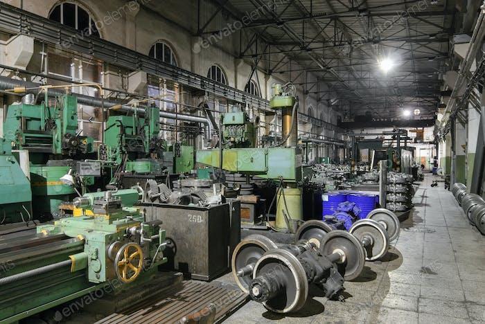 Equipment for the repair railway wheelset