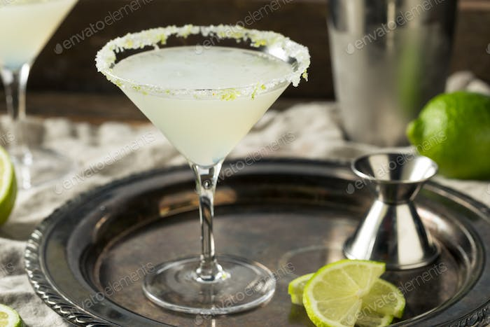 Boozy Lime Drop Martini