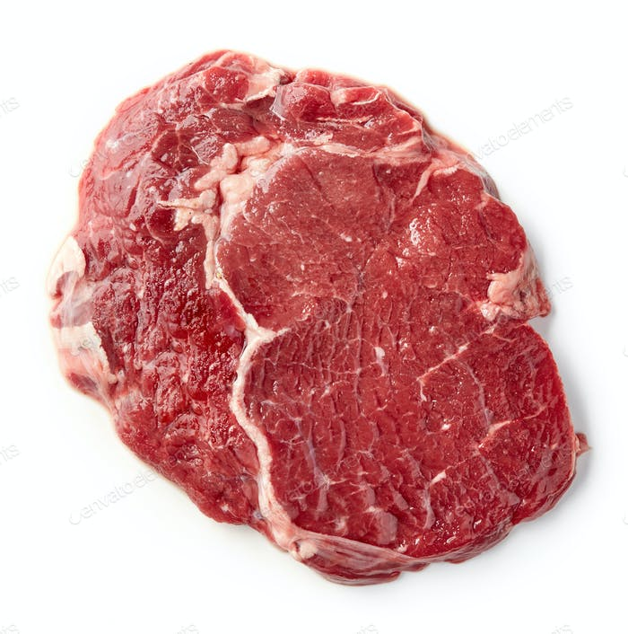 fresh raw rib eye steak